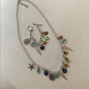Lucky Brand Silver Necklace & Bracelet Set
